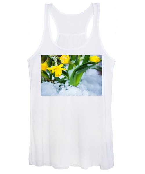 Daffodils In The Snow  Women's Tank Top