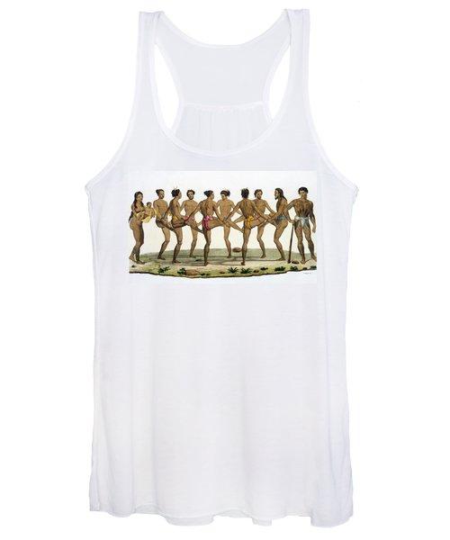 Dance Of The Caroline Islanders, Plate Women's Tank Top