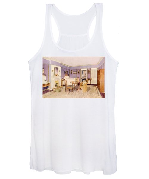 Design For The Interior Of A Bedroom Women's Tank Top