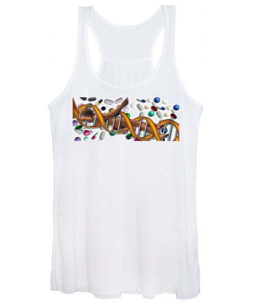 Dna Surrounded By Pills Women's Tank Top