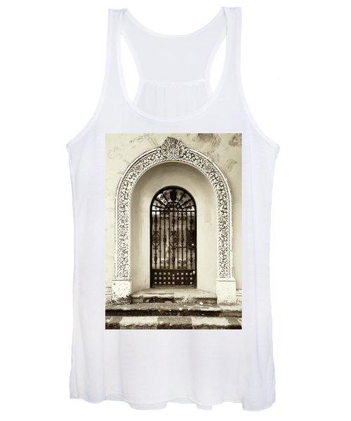 Door With Decorated Arch Women's Tank Top
