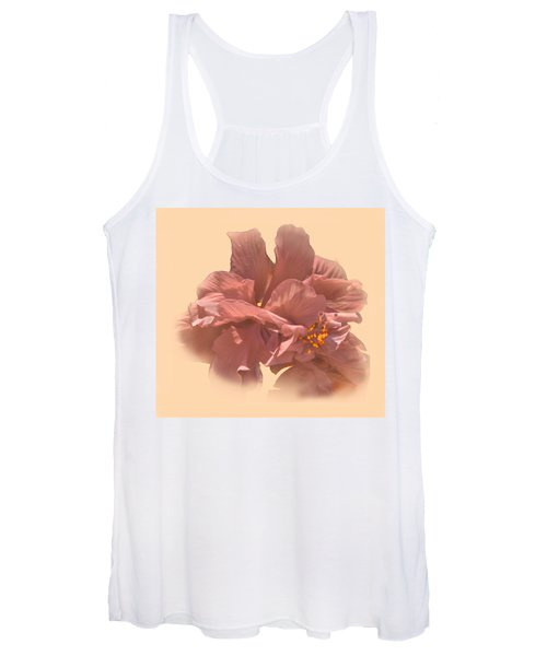 Double Hibiscus Portrait Women's Tank Top