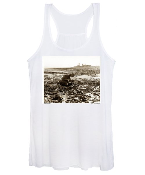 Ed Ricketts At Point Wilson Lighthouse In Port Townsend Wa July 1930 Women's Tank Top