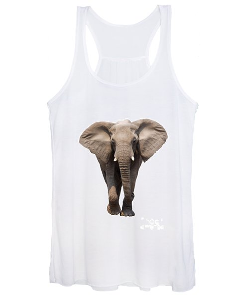 Elephant Isolated Women's Tank Top