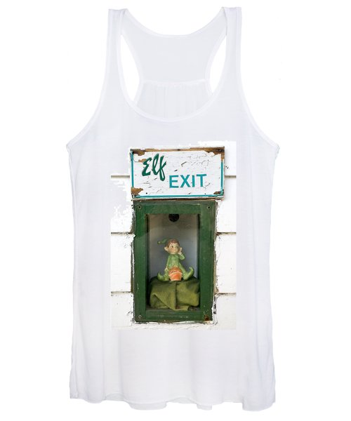 elf exit, Dubuque, Iowa Women's Tank Top