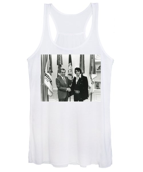 Elvis And Nixon Women's Tank Top