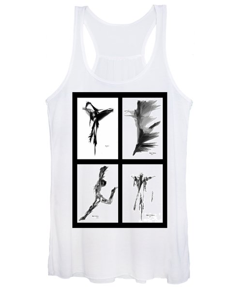 Emotions In Black - Abstract Quad Women's Tank Top