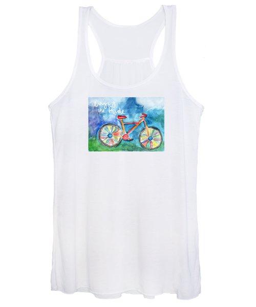 Enjoy The Ride- Colorful Bike Painting Women's Tank Top