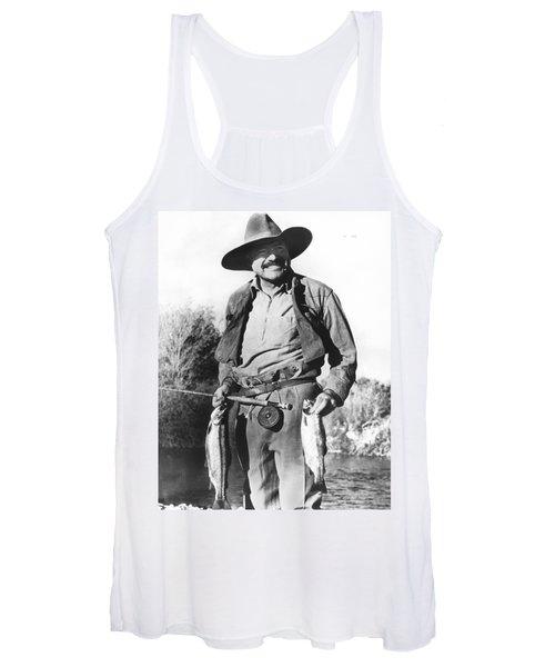 Ernest Hemingway Fishing Women's Tank Top