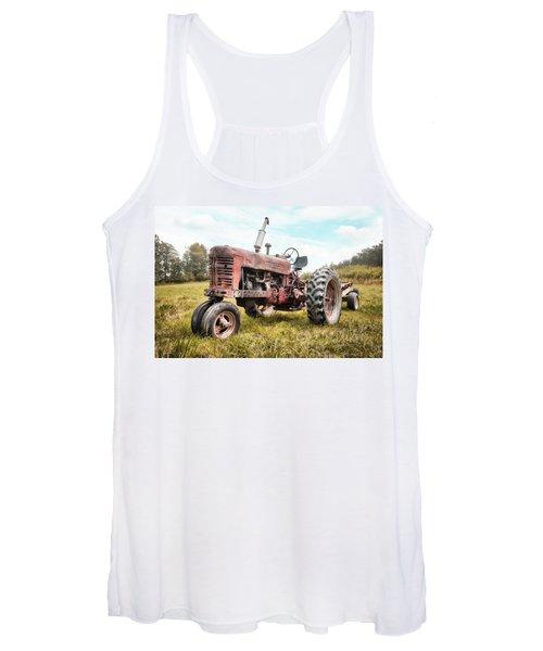 Farmall Tractor Dream - Farm Machinary - Industrial Decor Women's Tank Top