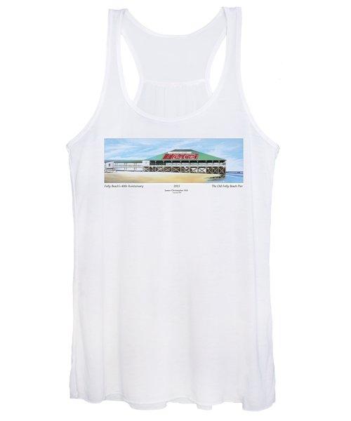 Folly Beach Original Pier Women's Tank Top