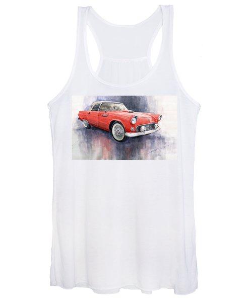 Ford Thunderbird 1955 Red Women's Tank Top