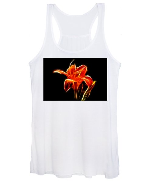Fractaled Lily Women's Tank Top