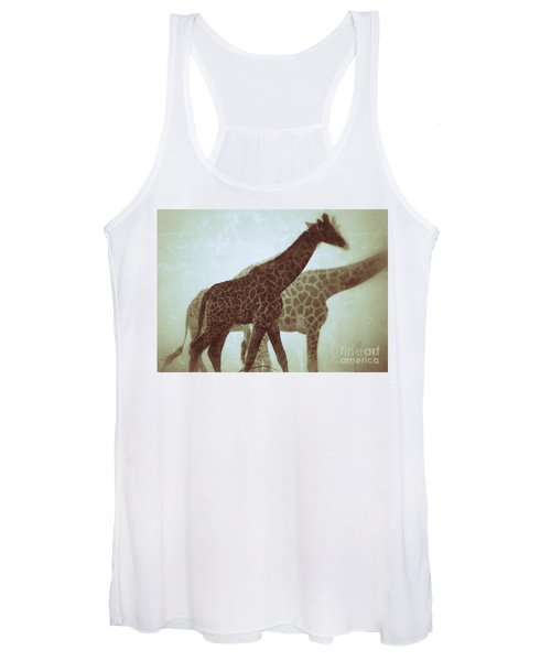 Giraffes In The Mist Women's Tank Top
