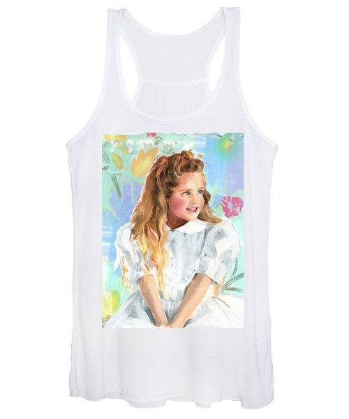 Girl In A White Lace Dress  Women's Tank Top