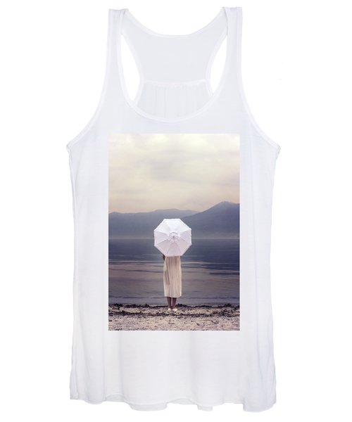 Girl With Parasol Women's Tank Top