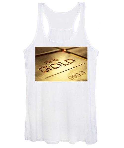 Gold Bars Close-up Women's Tank Top
