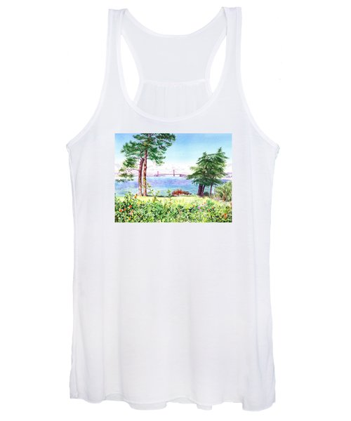 Golden Gate Bridge View From Lincoln Park San Francisco Women's Tank Top