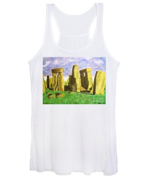Golden Stonehenge Women's Tank Top