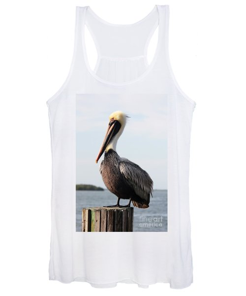 Handsome Brown Pelican Women's Tank Top