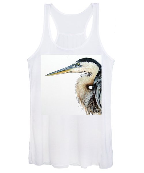 Heron Study Square Format Women's Tank Top