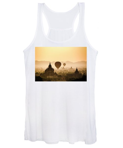 Hot Air Balloons Over The Temples Women's Tank Top
