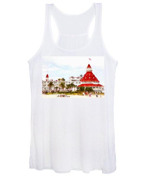 Hotel Del Coronado In Coronado California 5d24256wcstyle Women's Tank Top