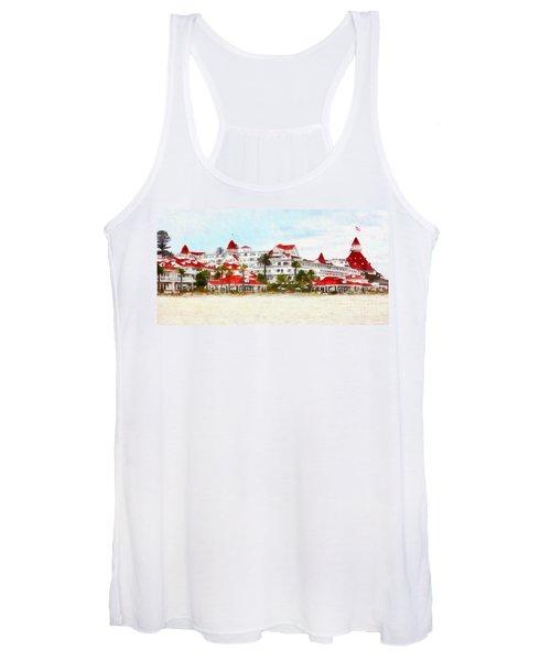 Hotel Del Coronado In Coronado California 5d24312wcstyle Long Women's Tank Top