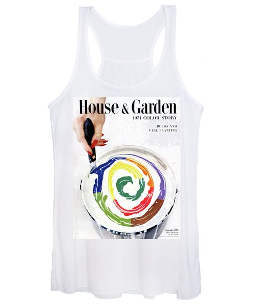 House & Garden Cover Of A Woman's Hand Stirring Women's Tank Top