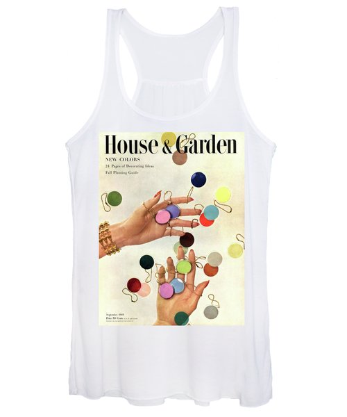 House & Garden Cover Of Woman's Hands With An Women's Tank Top