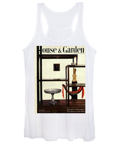 House And Garden Cover Featuring A Chinese Women's Tank Top