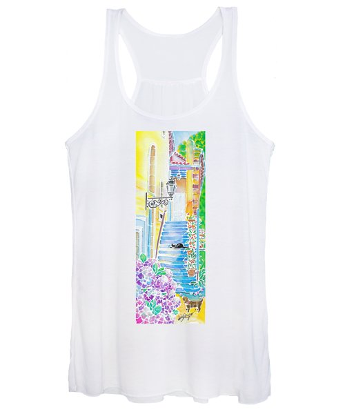 Hydrangeas And The Hotel Women's Tank Top