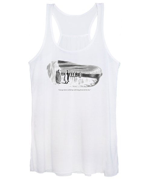 I Just Got Damn Well Fed Up With Being Formal All Women's Tank Top
