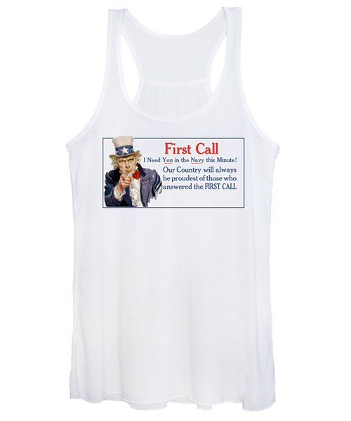 I Need You In The Navy - Uncle Sam Wwi Women's Tank Top