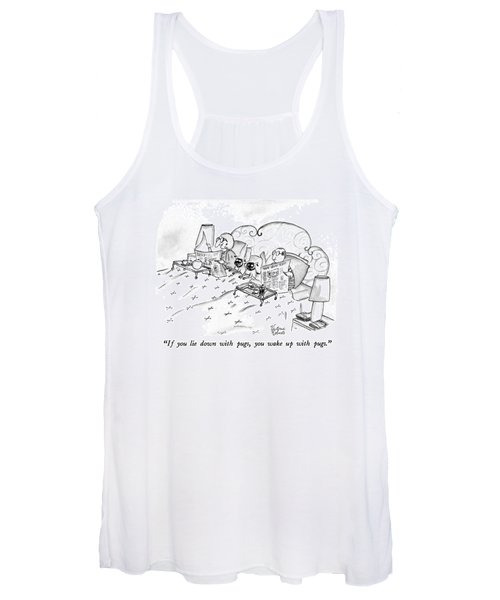 If You Lie Down With Pugs Women's Tank Top