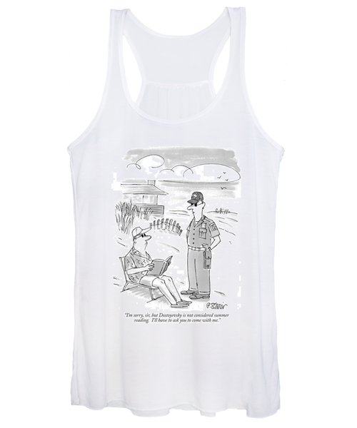 I'm Sorry, Sir, But Dostoyevsky Is Not Considered Women's Tank Top