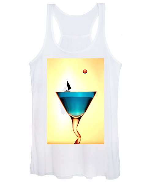 Impression Sunrise Sailing On The Cups Little People On Food Women's Tank Top