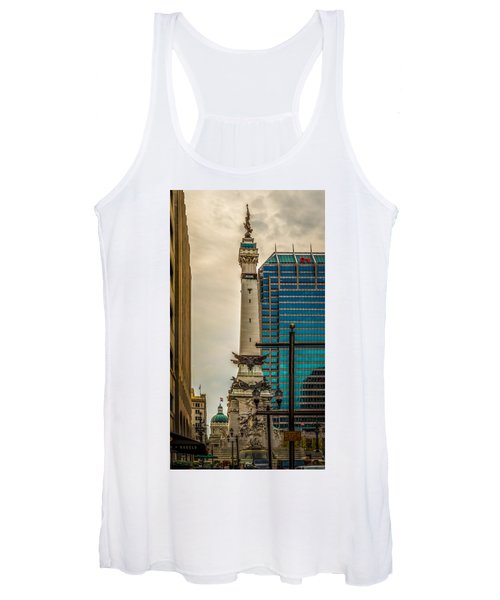Indiana - Monument Circle With State Capital Building Women's Tank Top