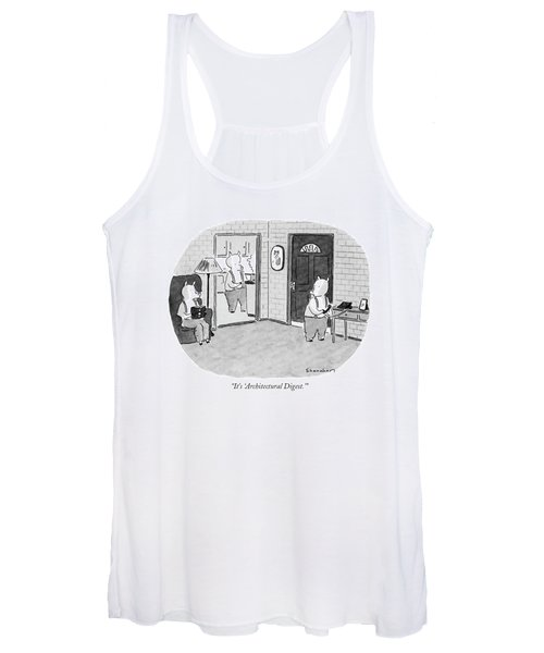 It's 'architectural Digest.' Women's Tank Top