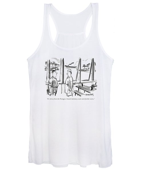 It's Direct From The Pentagon. Scratch Salisbury Women's Tank Top