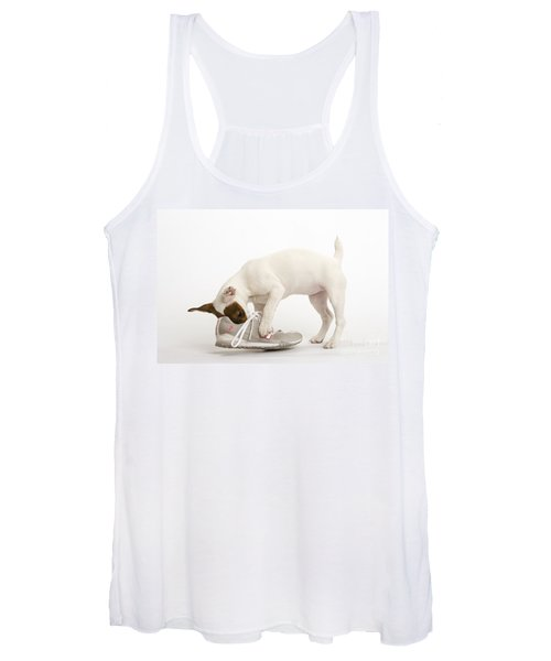 Jack Russell With Sneaker Women's Tank Top