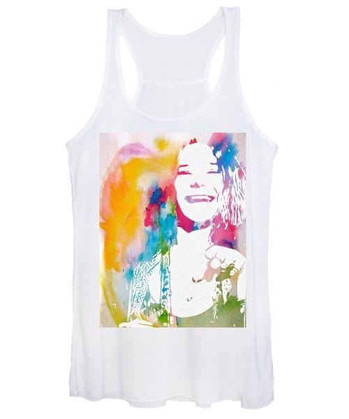 Janis Joplin Watercolor Women's Tank Top