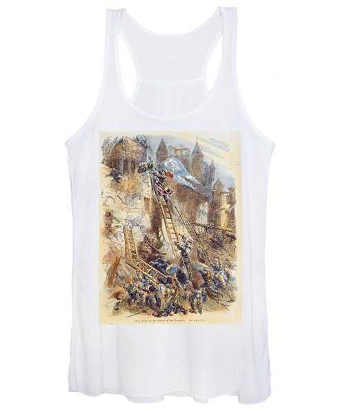 Joan Of Arc At The Assault Of The Tournelles Colour Litho Women's Tank Top