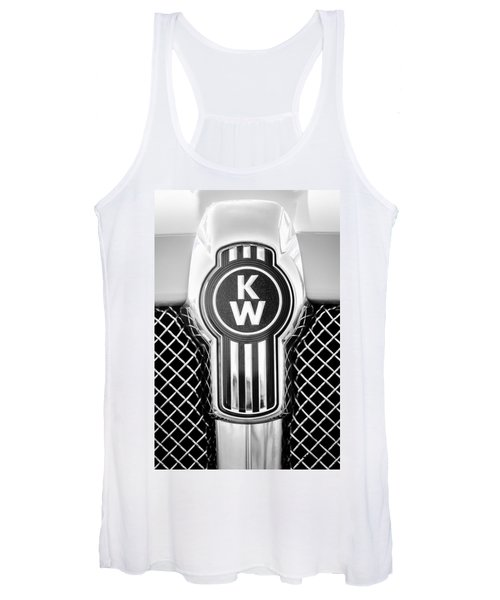 Kenworth Truck Emblem -1196bw Women's Tank Top
