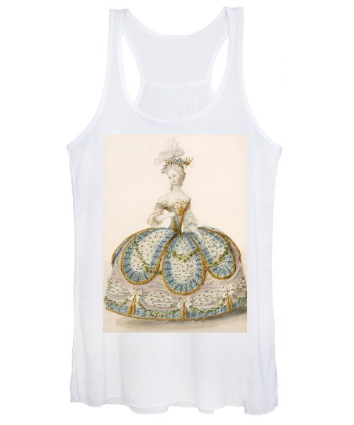 Lady Wearing Dress For A Royal Women's Tank Top