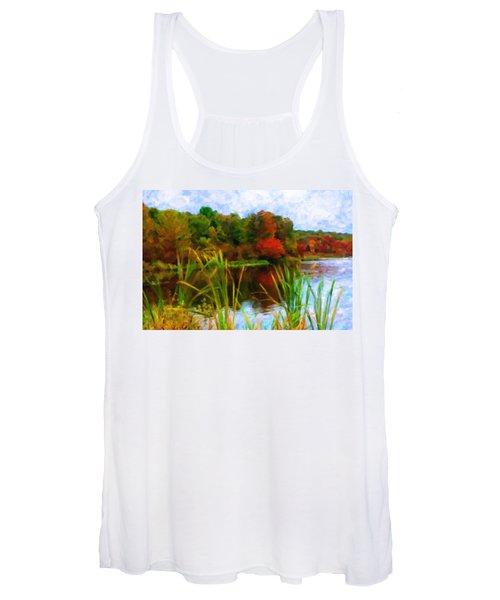 Lake In Early Fall Women's Tank Top