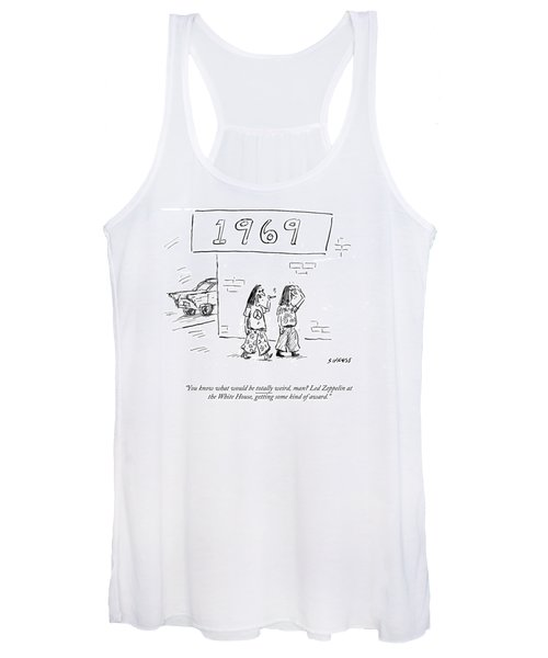 Led Zeppelin At The White House Getting Some Kind Women's Tank Top