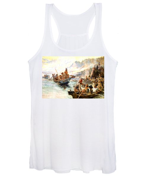 Lewis And Clark On The Lower Columbia  Women's Tank Top