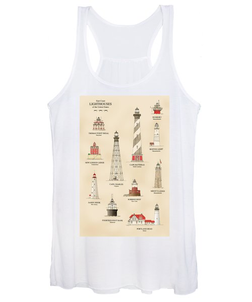 Lighthouses Of The East Coast Women's Tank Top