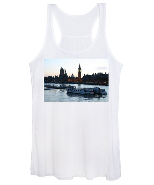Lighting Up Time On The Thames Women's Tank Top